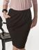 Czarna spódnica z ozdobnie obszytą kieszenią