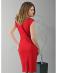 Śliczna sukienka o wyjątkowym czerwonym kolorze